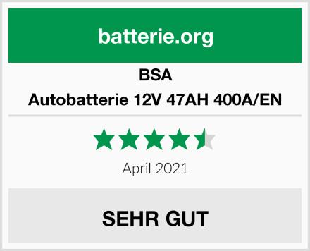 BSA Autobatterie 12V 47AH 400A/EN Test