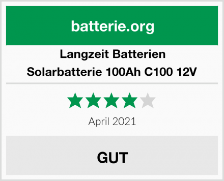 Langzeit Batterien Solarbatterie 100Ah C100 12V Test