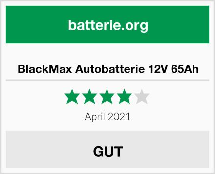 BlackMax Autobatterie 12V 65Ah Test