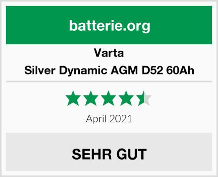 Varta Silver Dynamic AGM D52 60Ah Test