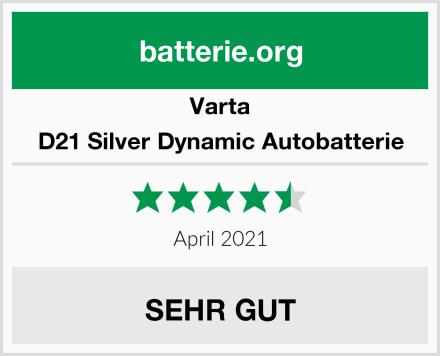 Varta D21 Silver Dynamic Autobatterie Test