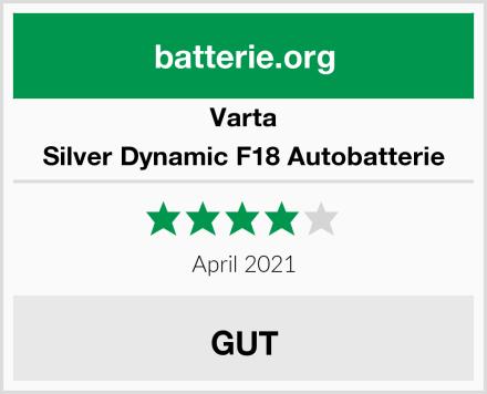 Varta Silver Dynamic F18 Autobatterie Test