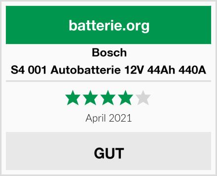 Bosch S4 001 Autobatterie 12V 44Ah 440A Test