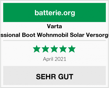 Varta LFD90 Professional Boot Wohnmobil Solar Versorgungsbatterie Test