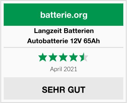 Langzeit Batterien Autobatterie 12V 65Ah Test