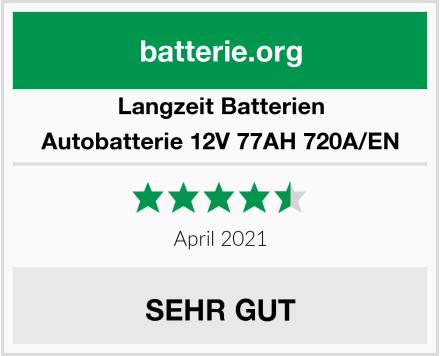Langzeit Batterien Autobatterie 12V 77AH 720A/EN Test
