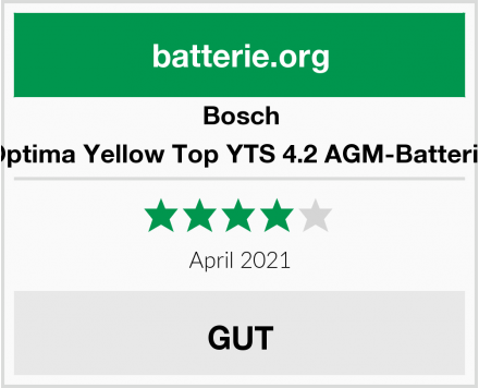 Bosch Optima Yellow Top YTS 4.2 AGM-Batterie Test