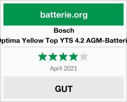 Bosch Optima Yellow Top YTS 4.2 AGM-Batterie Test