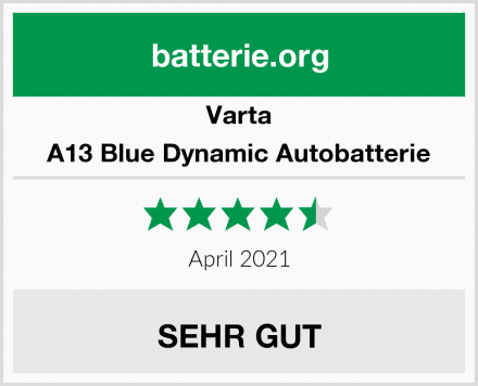 Varta A13 Blue Dynamic Autobatterie Test