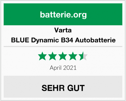 Varta BLUE Dynamic B34 Autobatterie Test