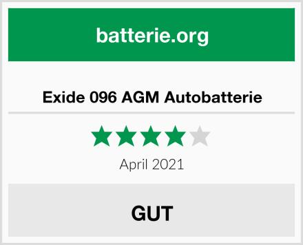 Exide 096 AGM Autobatterie Test