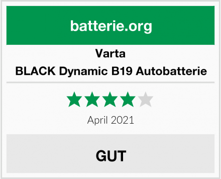 Varta BLACK Dynamic B19 Autobatterie Test