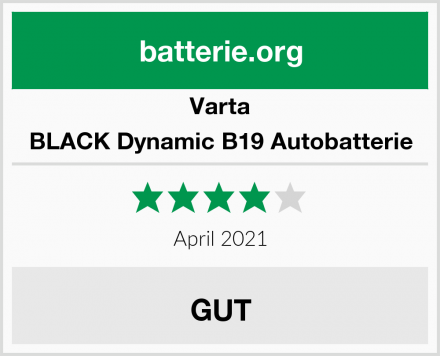 Varta BLACK Dynamic B19 Autobatterie Test