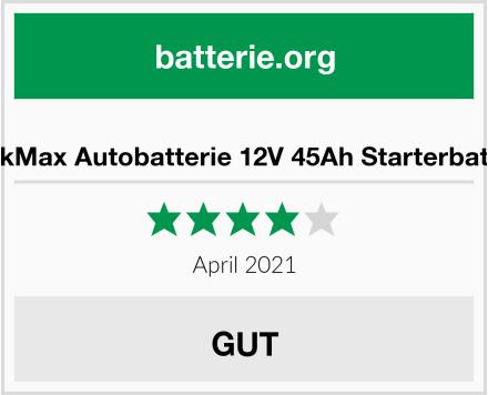 No Name BlackMax Autobatterie 12V 45Ah Starterbatterie Test