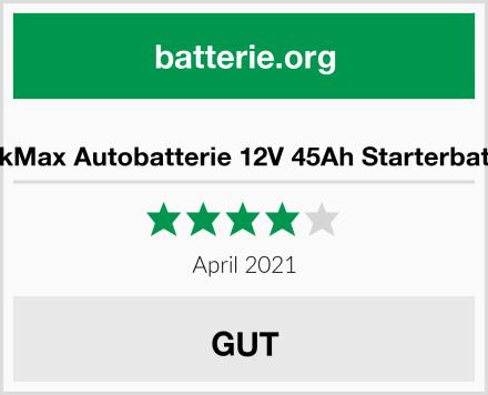 BlackMax Autobatterie 12V 45Ah Starterbatterie Test