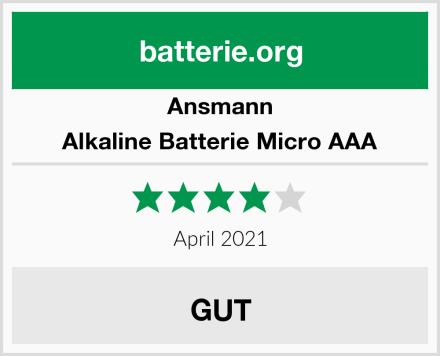 Ansmann Alkaline Batterie Micro AAA Test