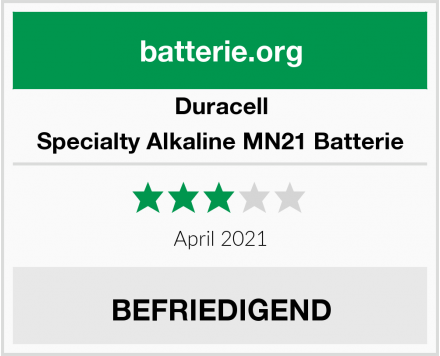 Duracell Specialty Alkaline MN21 Batterie Test
