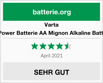 Varta Longlife Power Batterie AA Mignon Alkaline Batterien LR6 Test