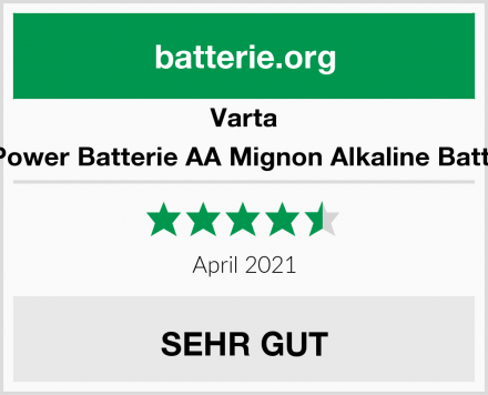 Varta Longlife Power Batterie AA Mignon Alkaline Batterien LR6 Test