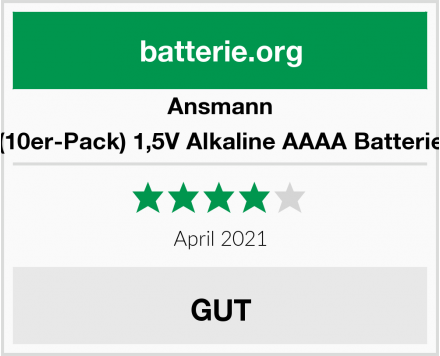 Ansmann (10er-Pack) 1,5V Alkaline AAAA Batterie Test
