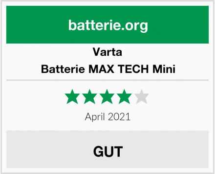 Varta Batterie MAX TECH Mini Test