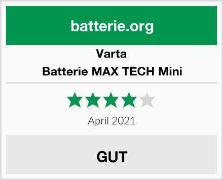 Varta Batterie MAX TECH Mini Test