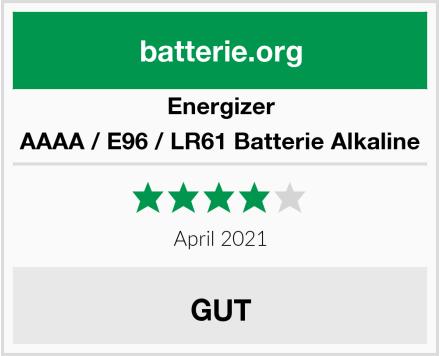 Energizer AAAA / E96 / LR61 Batterie Alkaline Test