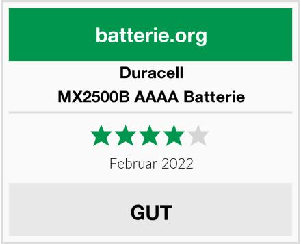 Duracell MX2500B AAAA Batterie Test