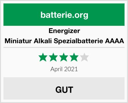 Energizer Miniatur Alkali Spezialbatterie AAAA Test
