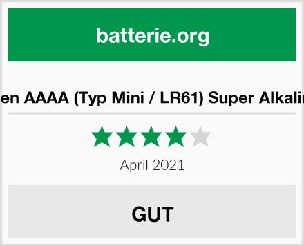 Batterien AAAA (Typ Mini / LR61) Super Alkaline 1,5V Test