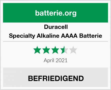 Duracell Specialty Alkaline AAAA Batterie Test