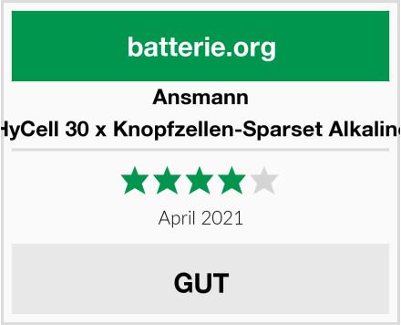 Ansmann HyCell 30 x Knopfzellen-Sparset Alkaline Test