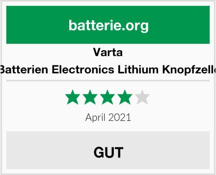 Varta Batterien Electronics Lithium Knopfzelle Test