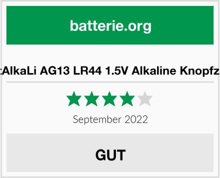Bemb Lucky 40 Stück AG13 LR44 1.5V Alkaline Knopfzelle Test