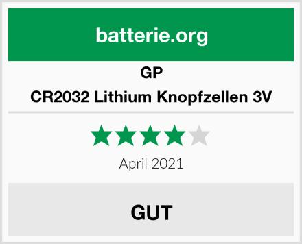 GP CR2032 Lithium Knopfzellen 3V Test