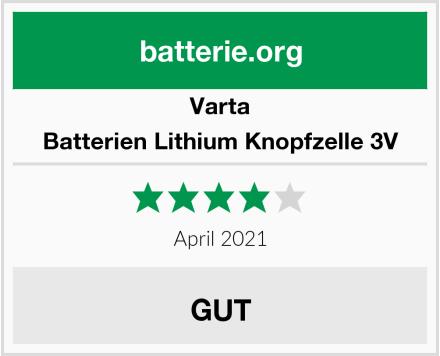 Varta Batterien Lithium Knopfzelle 3V Test