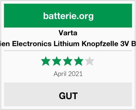 Varta Batterien Electronics Lithium Knopfzelle 3V Batterie Test