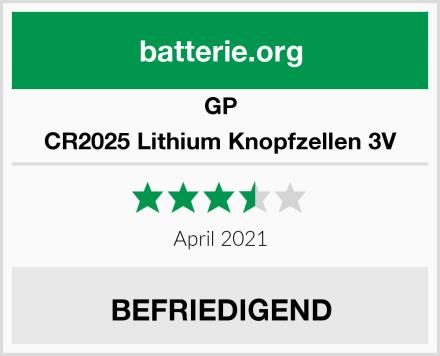 GP CR2025 Lithium Knopfzellen 3V Test