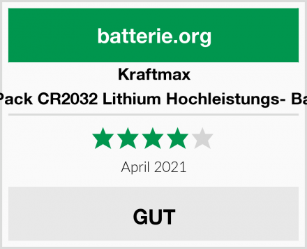 Kraftmax 10er Pack CR2032 Lithium Hochleistungs- Batterie Test