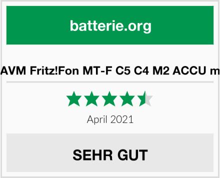 Ersatz Akku für AVM Fritz!Fon MT-F C5 C4 M2 ACCU mit 750mAh Li-ion Test