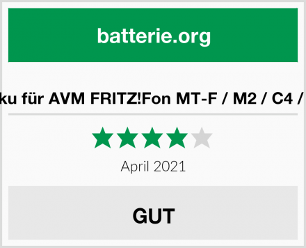 Akku für AVM FRITZ!Fon MT-F / M2 / C4 / C5 Test