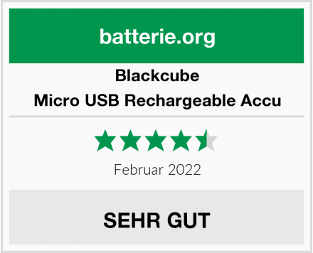 Blackcube Micro USB Rechargeable Accu Test