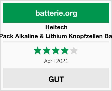 Heitech 48er Pack Alkaline & Lithium Knopfzellen Batterie Test