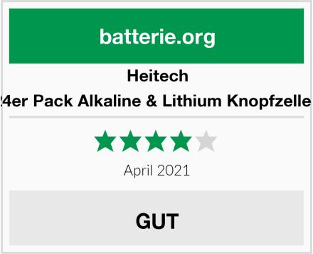 Heitech 24er Pack Alkaline & Lithium Knopfzellen Test