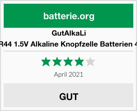 GutAlkaLi AG13 LR44 1.5V Alkaline Knopfzelle Batterien 40er Set Test