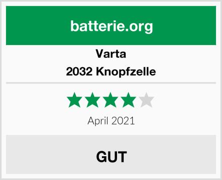 Varta 2032 Knopfzelle Test