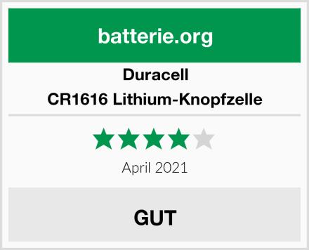 Duracell CR1616 Lithium-Knopfzelle Test