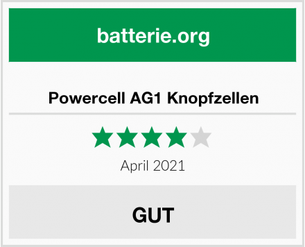 Powercell AG1 Knopfzellen Test