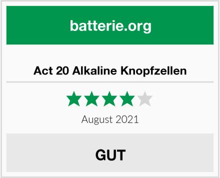 Act 20 Alkaline Knopfzellen Test