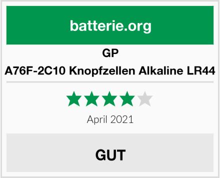 GP A76F-2C10 Knopfzellen Alkaline LR44 Test